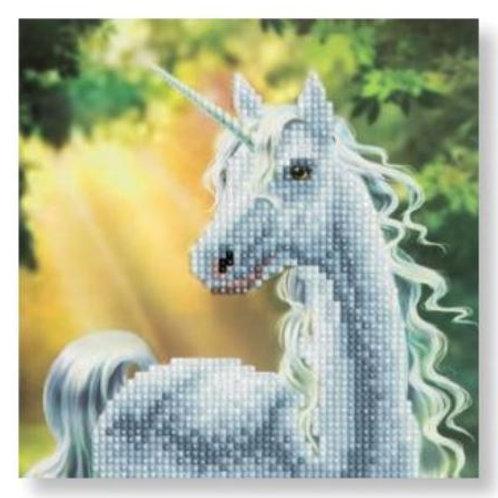 Sunshine Unicorn, 18x18cm Crystal Art Card