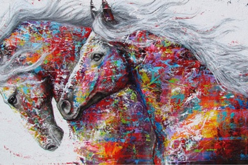 Multi Colour double horse