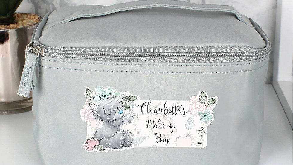 Personalised Me to You Floral Grey Vanity Bag
