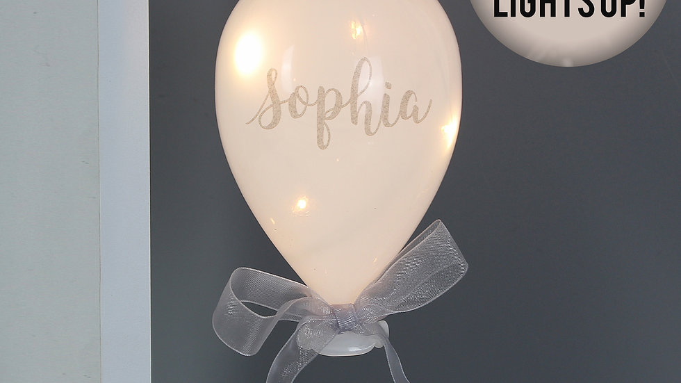 Personalised Message LED Hanging Glass Balloon