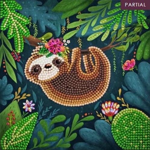Sloth, 18x18cm Crystal Art Card