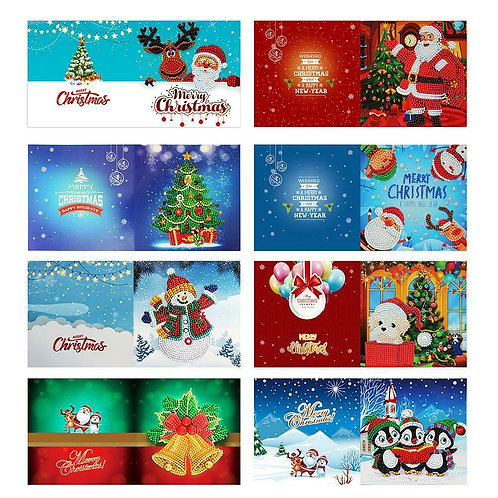 Christmas cards pack of 8 design 11