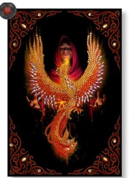 """Phoenix Rising, Crystal Art Notebook ANNE STOKES """