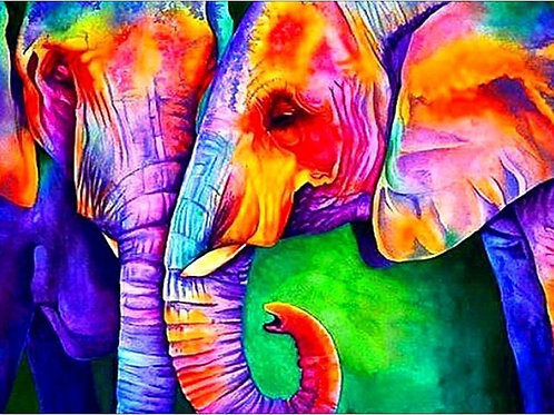 Colourful Elephants
