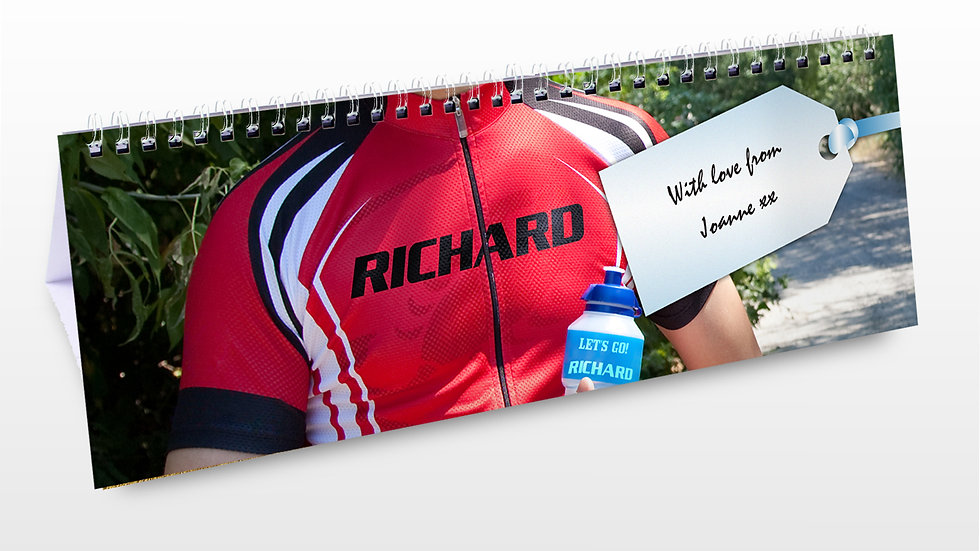 Personalised Sport Desk Calendar
