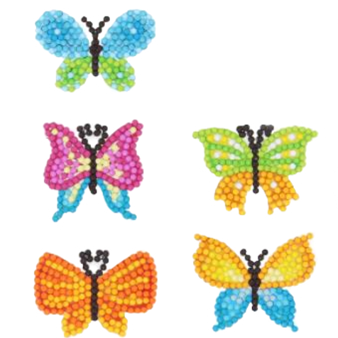 Butterfly stickers pack of 5