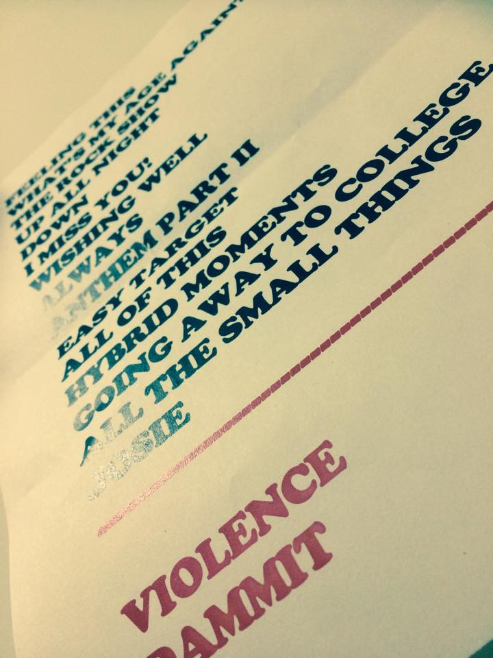 SETLIST - ONE OF MANY...