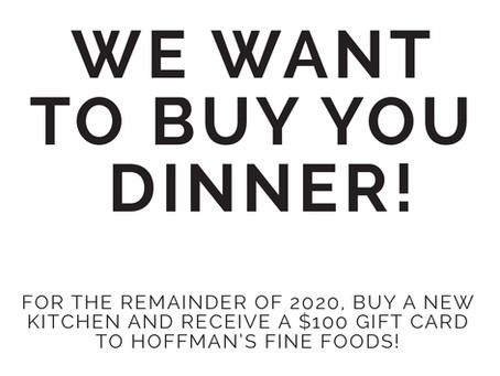 We Want To Buy You Dinner!