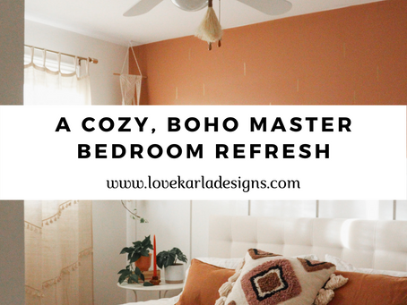 A Cozy, Boho Master Bedroom Refresh