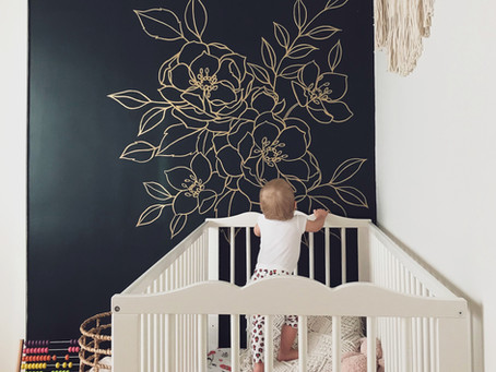 DIY Wall Mural: A bold, floral nursery update
