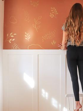 A Gold Leaf Wall Mural