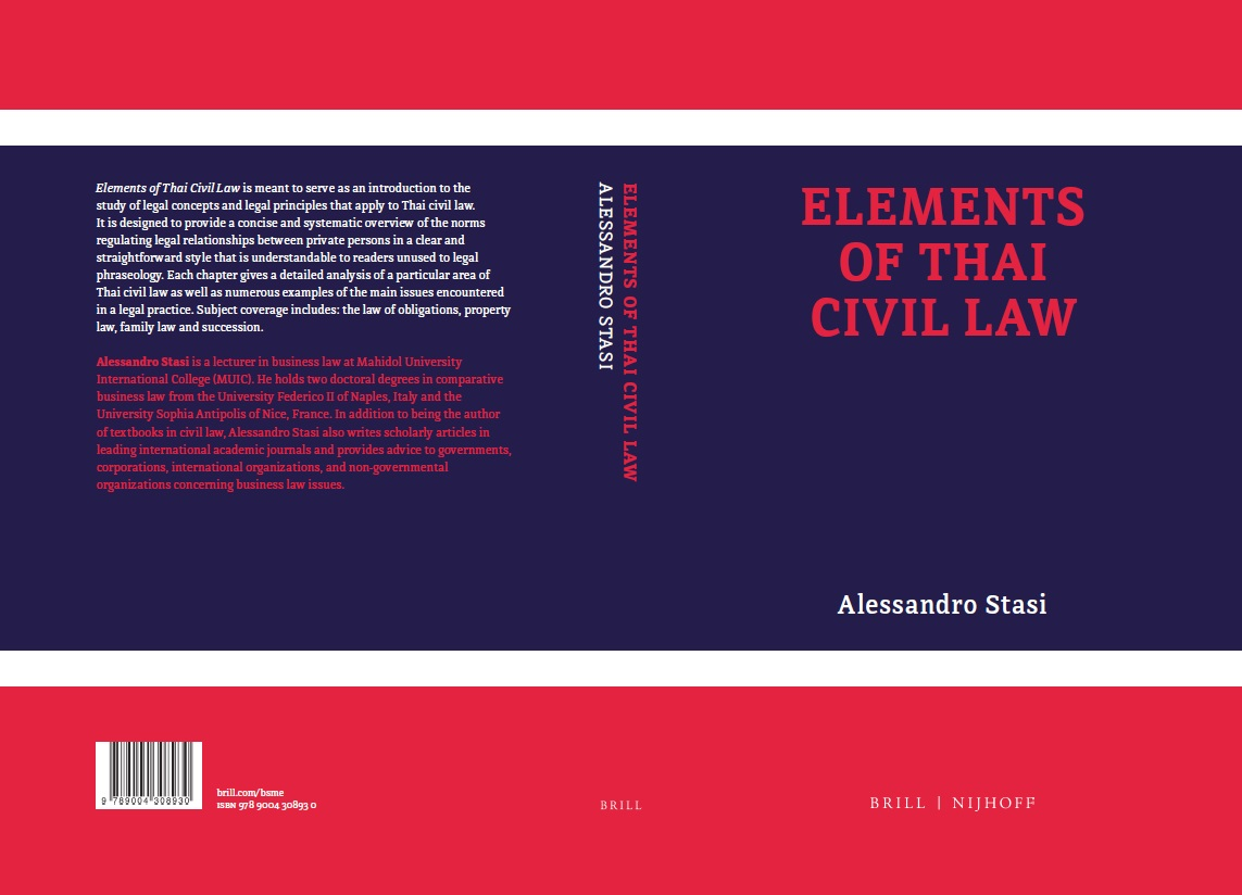 Elements of Thai Civil Law