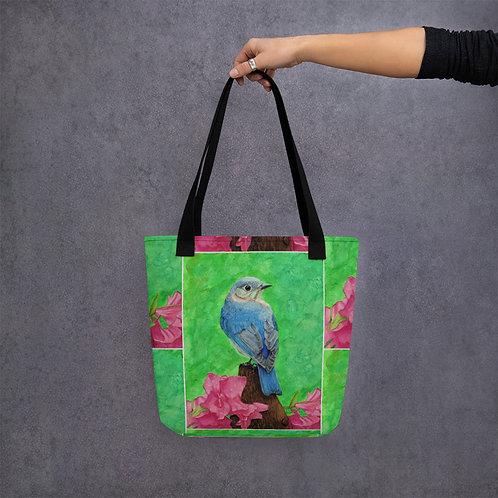 Tote bag: Lady Blue Pattern