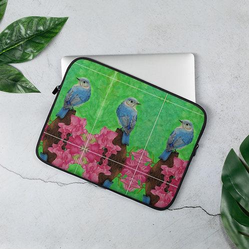 Laptop Sleeve: Lady Blue pattern