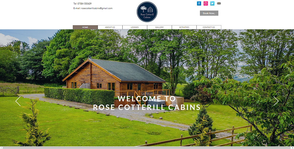 Rose Cotterill Cabins | Neath South Wales Offers a magical stay in traditional Canadian log cabins lodges surrounded by picturesque countryside