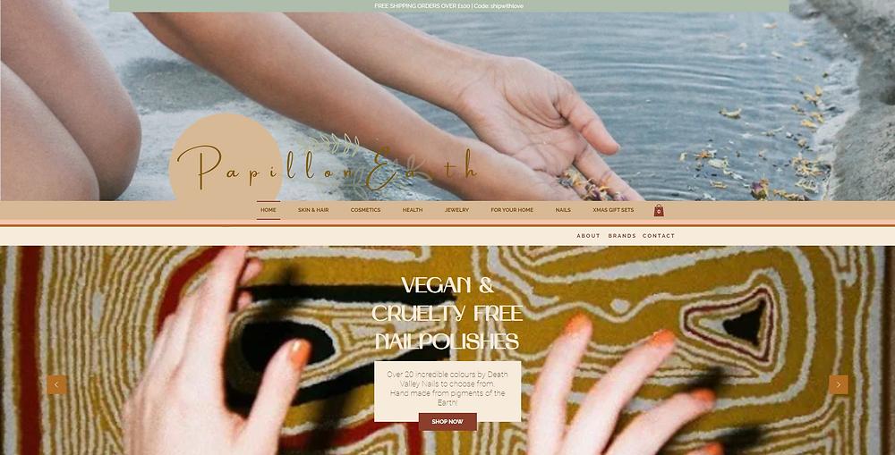 Papillon EarthNatural Organic Beauty Skincare Nails & Jewellery Products