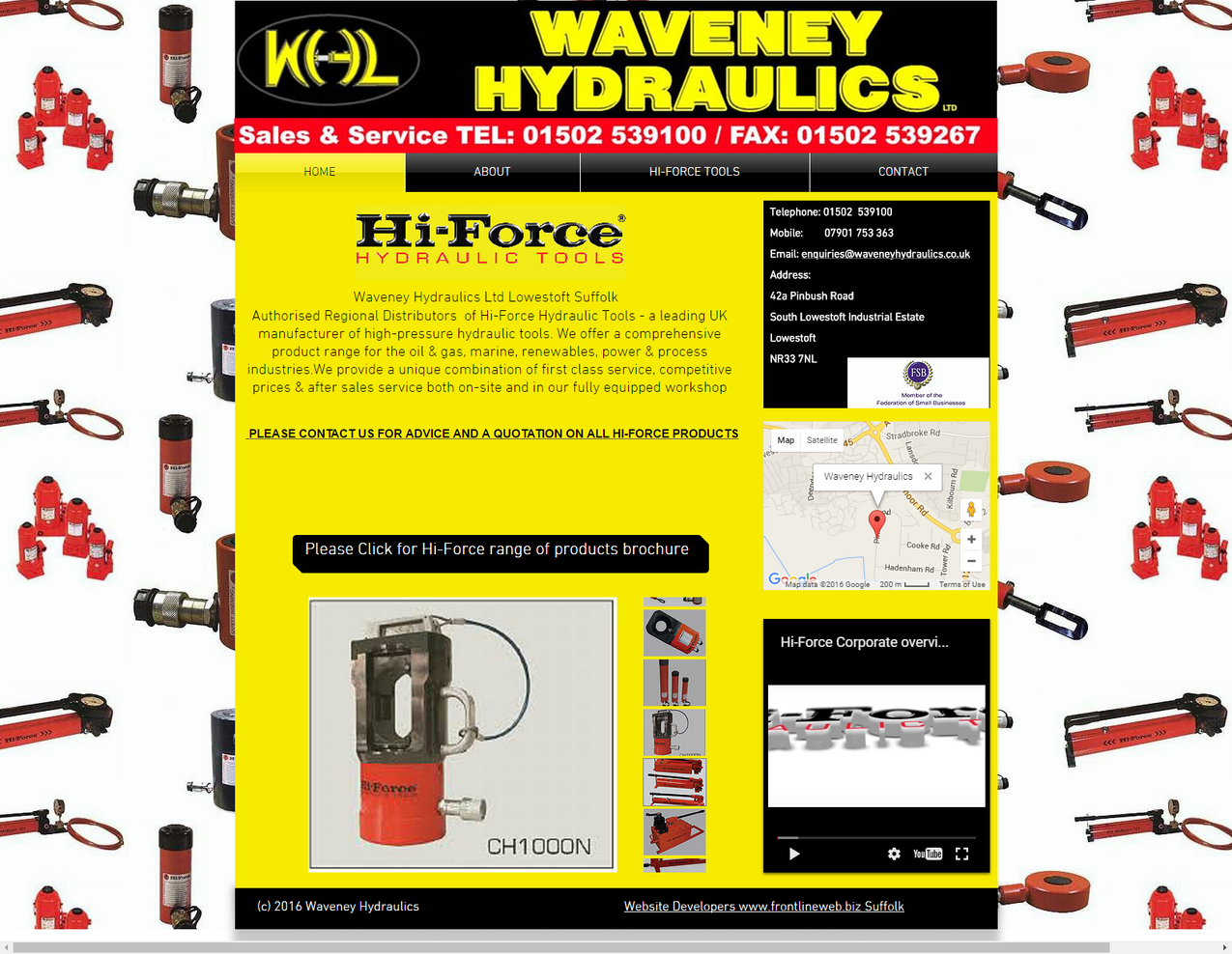 Hi force Hydraulics Distributor Lowestoft Suffolk UK