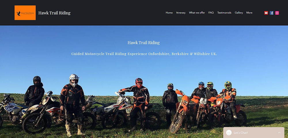 Guided Motorcycle Trail Riding Experience Oxfordshire, Berkshire & Wiltshire UK.