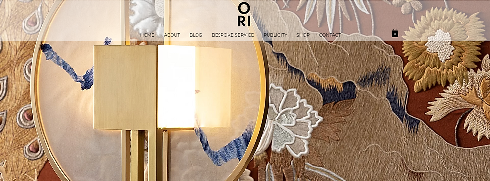 ORI London Specialises In Modern Embroidered Designer Lighting, Homeware & Luxury Modern Interiors Inspired By Traditional Handmade Embroidery