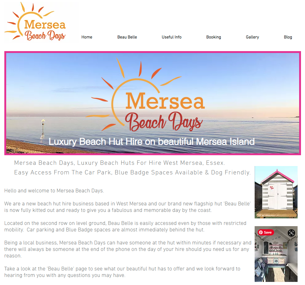 Mersea Beach Days, Luxury Beach Huts For Hire West Mersea, Essex. Easy Access From The Car Park Blue Badge Spaces Available & Dog Friendly