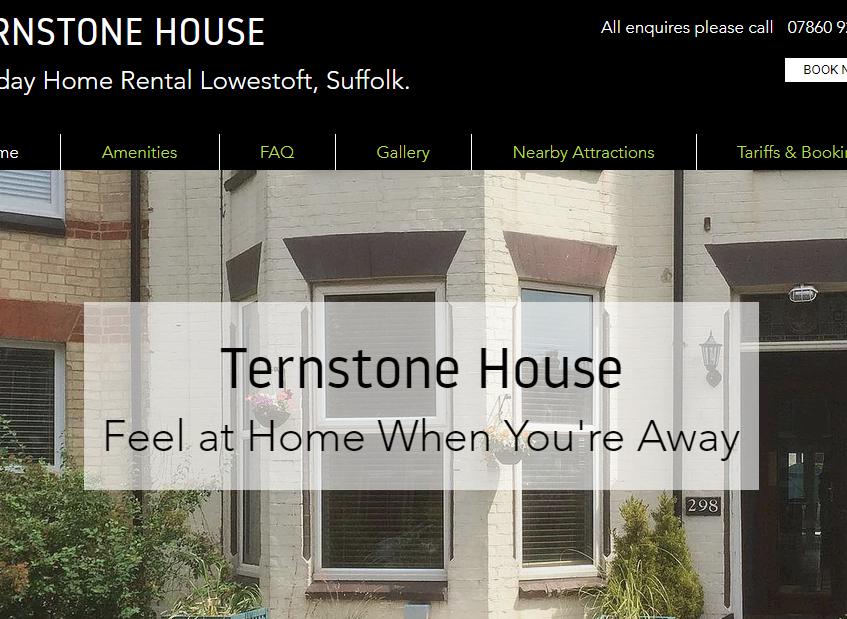 Holiday Home Rental Lowestoft Ternstone House