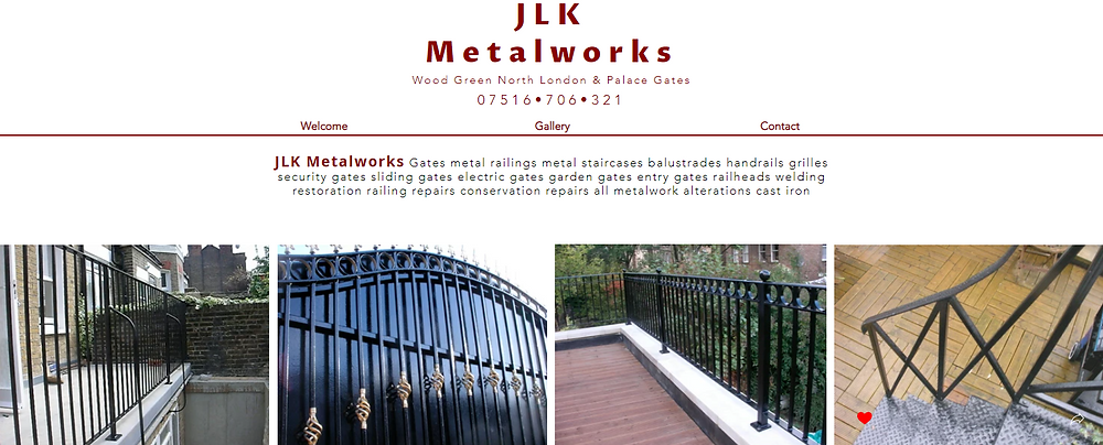 JLK Metalworks Gates metal railings metal staircases balustrades handrails grilles security gates sliding gates electric gates garden gates entry gates railheads welding restoration railing repairs conservation repairs all metalwork alterations cast iron
