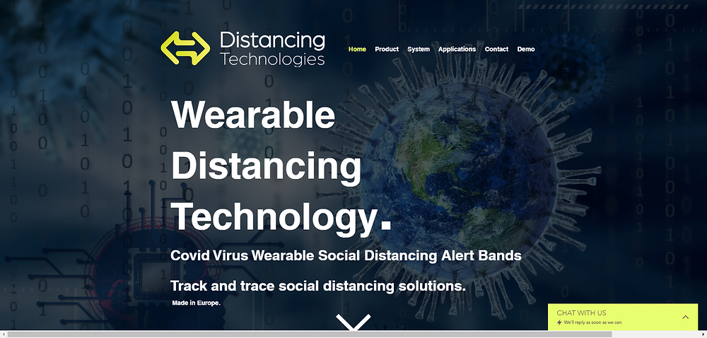Covid Virus Wearable Social Distancing Alert Bands