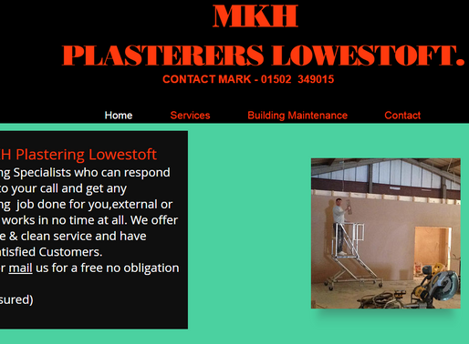 MKH PLASTERERS LOWESTOFT,BECCLES,GREAT YARMOUTH.