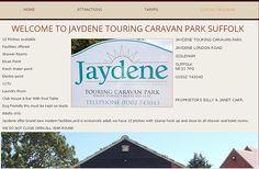 JAYDENE TOURING CARAVAN PARK SUFFOLK. WEBSITE DESIGN/MARKETING FRONTLINEWEB SUFFOLK.