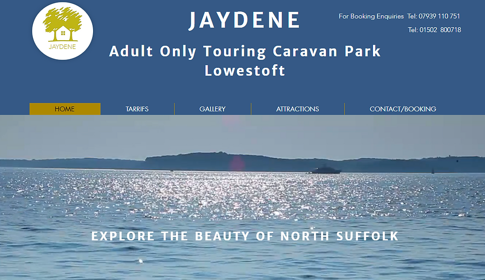 Jaydene Aduly only Touring Caravan Park Lowestoft Suffolk
