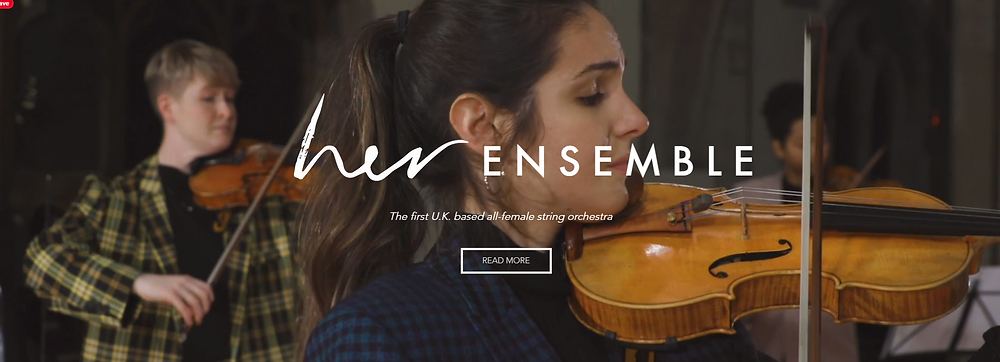 Her Ensemble is the first U.K. based all-women string orchestra, made up of some of the most in-demand string players in the U.K. and abroad