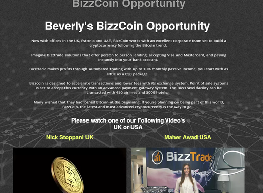 Beverly's BizzCoin Opportunity