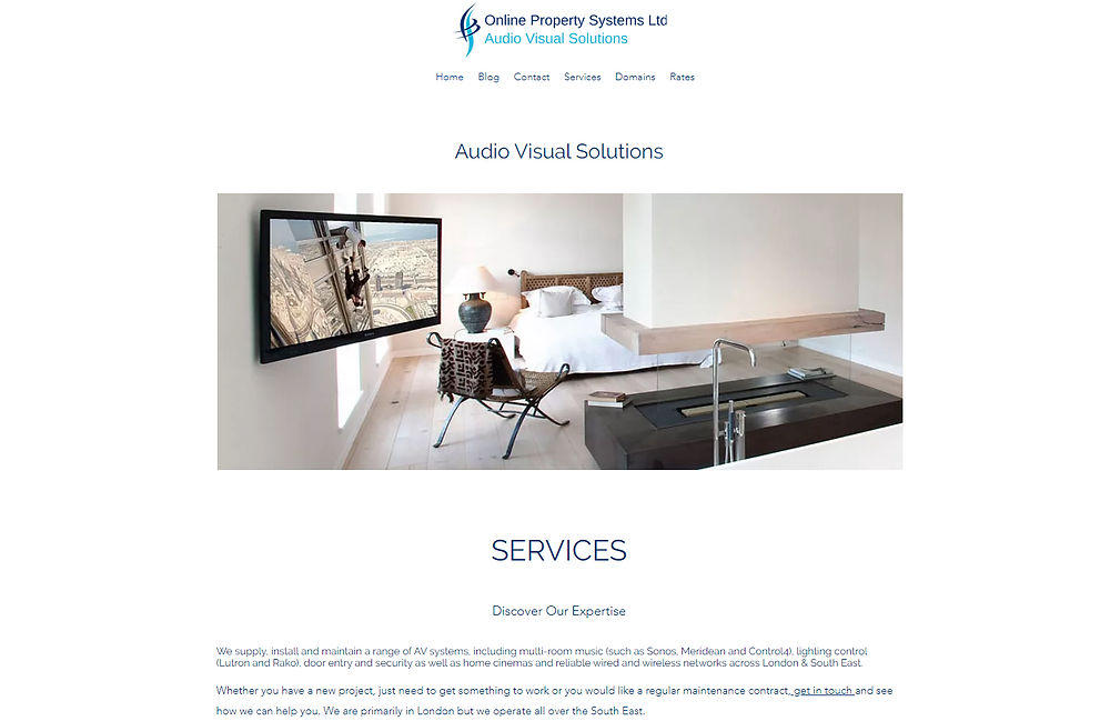 Online Property Systems Offer Design, Installation & Maintenance Of AV Systems Home Cinemas, Control Systems, Wired Or Wireless Networks & Lighting Across London