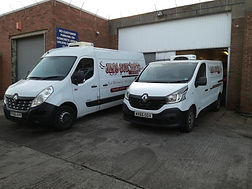 Our fleet of Modern Refrigerated vans,