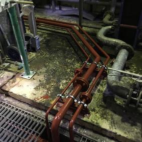 Mild Steel Pipework Insallation