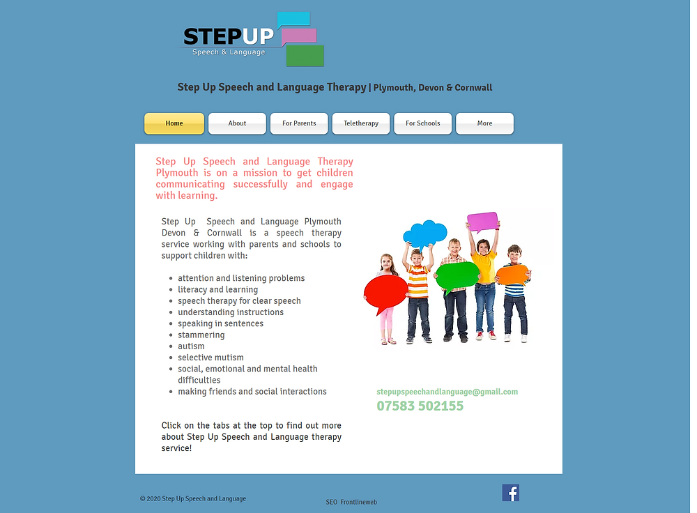 Speech and Language Therapist Covering Plymouth, Devon & Cornwall. Step Up Speech & Language Offers Private Speech & language Therapy For Children