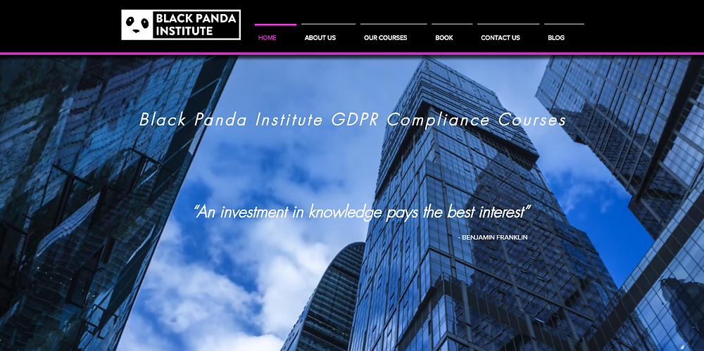 Black Panda Institute is a learning academy in the UK for certified courses including GDPR courses, data protection training, data protection officer certified courses, cyber security courses, cyber security training and DPO courses.