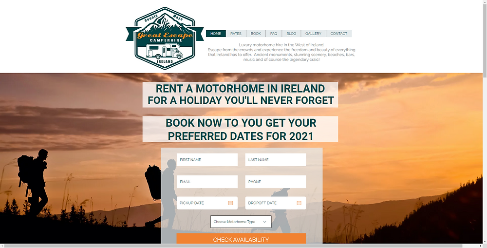 Luxury Motorhome Hire in the West of Ireland. Escape from the crowds and experience the freedom and beauty of everything that Ireland has to offer