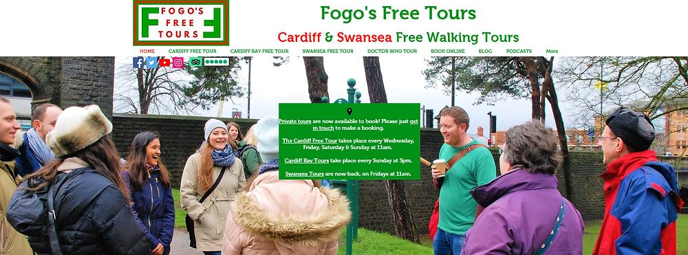 Fogo's Free Tours   Cardiff & Swansea Free Walking Tours