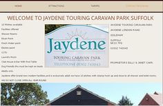JAYDENE TOURING CARAVAN PARK SUFFOLK. WEBSITE DESIGN/MARKETING FRONTLINEWEB SUFFOLK.