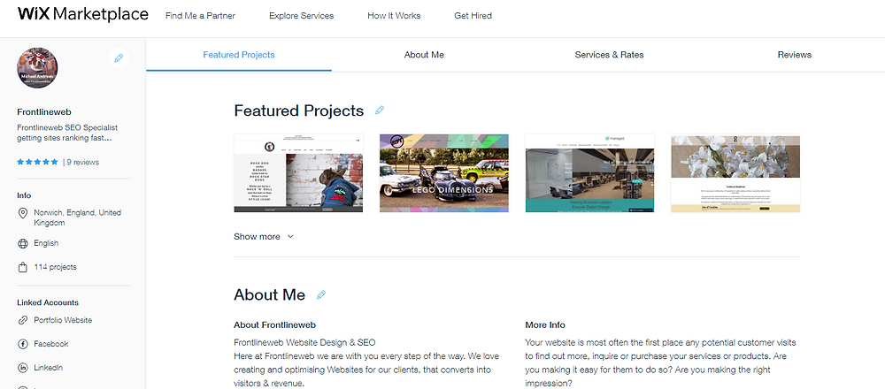 Check My Wix Marketplace Partner Profile Out
