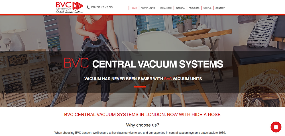 BVC London specialises in the design, supply and installation of central vacuum cleaning systems throughout all areas of the UK