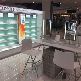 Clinique Shop Fitting Fabrication