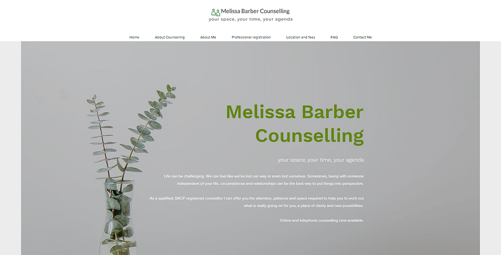 Melissa Barber Online Adult Counsellor & Psychotherapy Berkshire