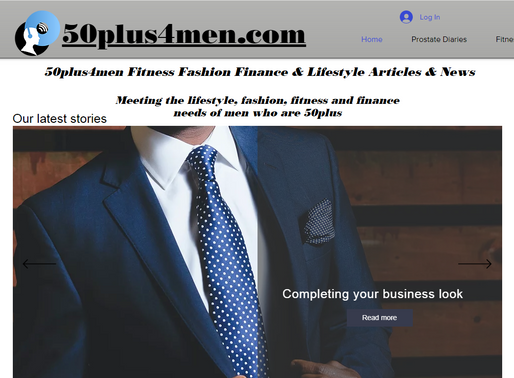 50 Plus + Men Fitness Fashion Finance & Lifestyle Articles & News