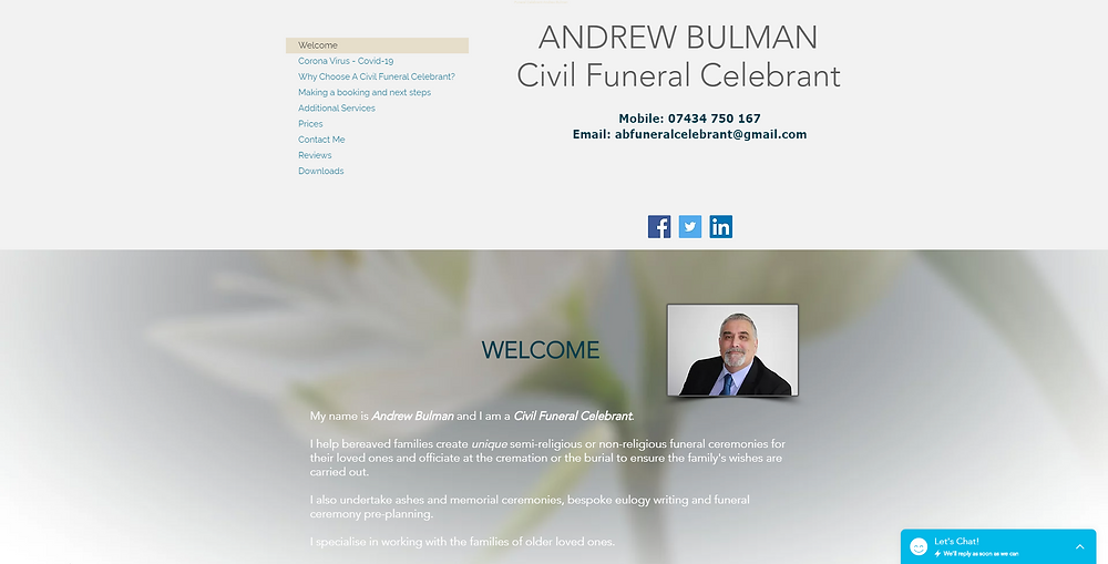 Funeral Celebrant Pre-Funeral ceremony planning Personal funeral memorial ceremonies & ashes scatterings Warwickshire, Worcestershire Shropshire & Staffordshire.