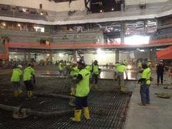 Foundation concrete pour