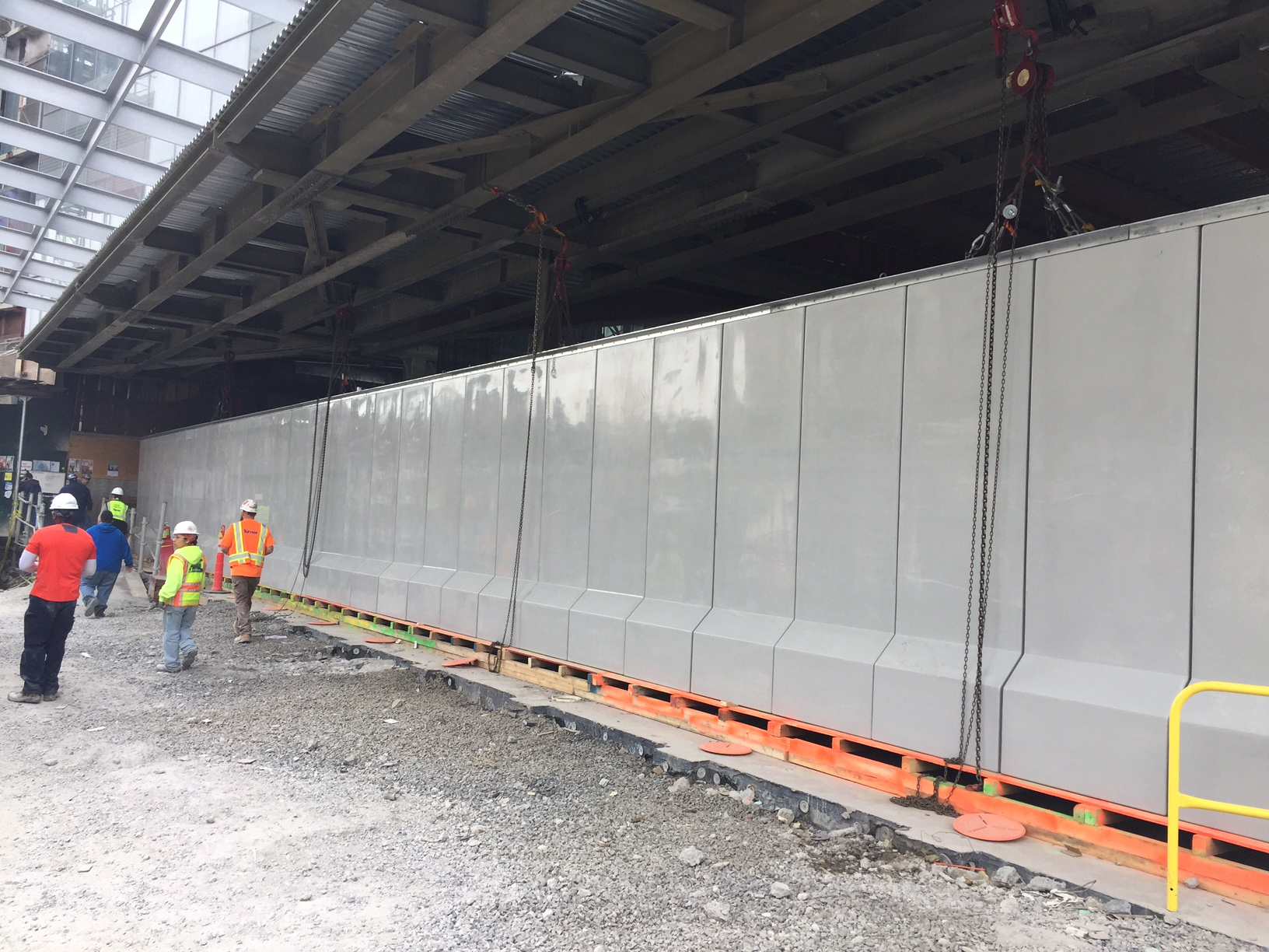 Flood Barrier system fully installed