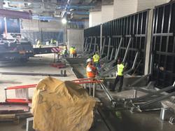 Flood barrier installation