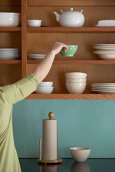 Organisierter Küchenschrank